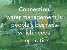 Connection water management is peoples business which need cooperation